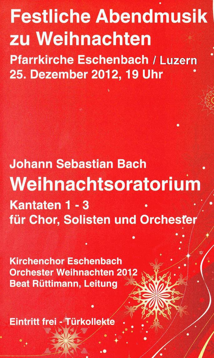 Weihnachtsoratorium von J. S. Bach