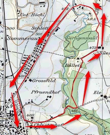 Meine Wanderroute: kastrierter Grosser Rundlauf...