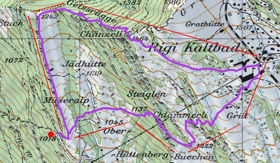 Karte Rigi