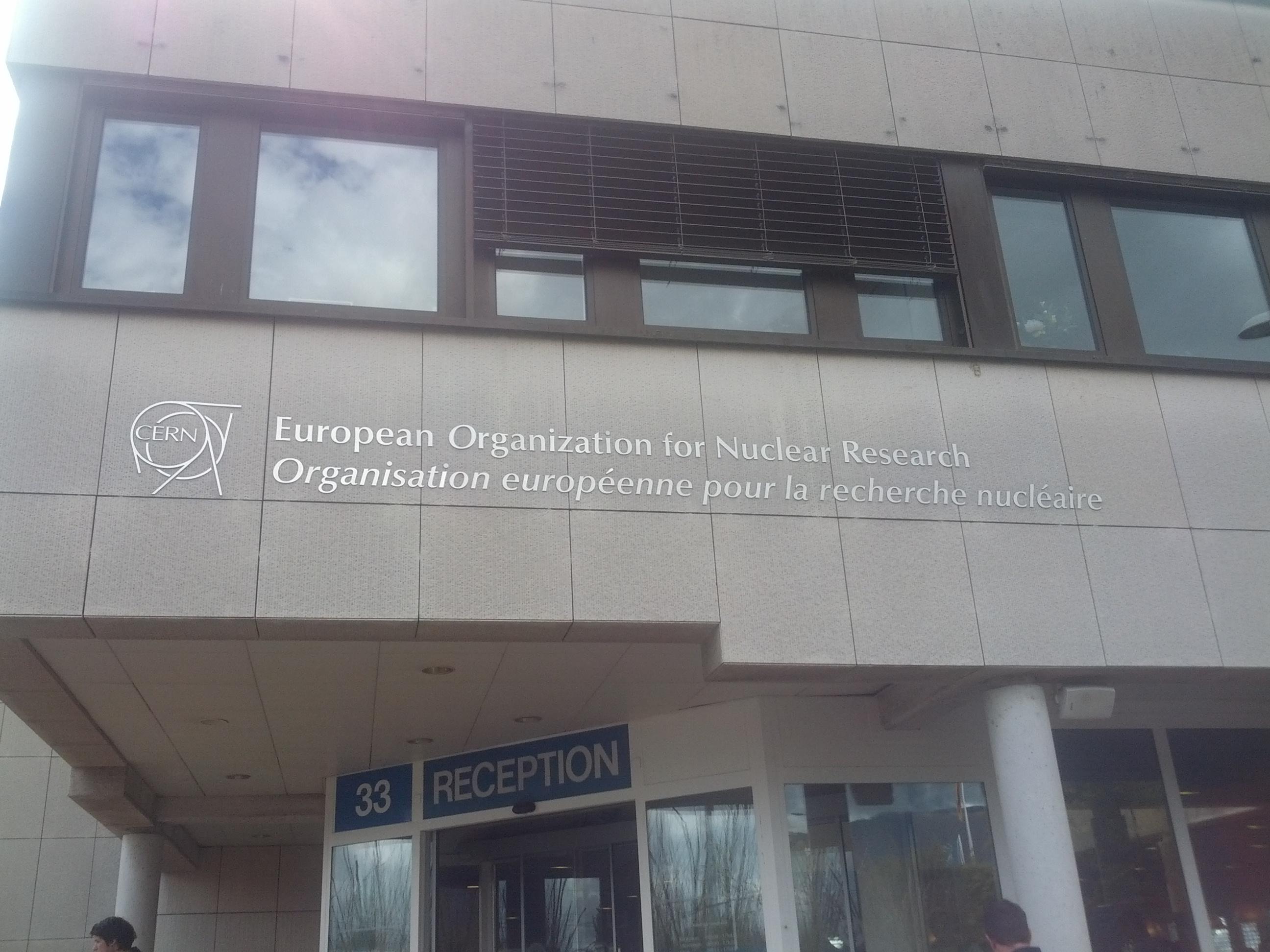 Eingang CERN