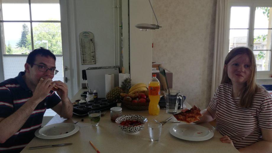 Pizzamampfen bei Fiona